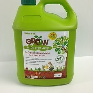 4 litre grow liwuid bio organic lawn fertilizer