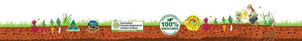 Organic garden banner